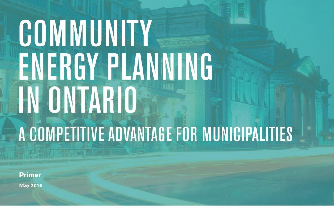 Community Energy Planning in Ontario