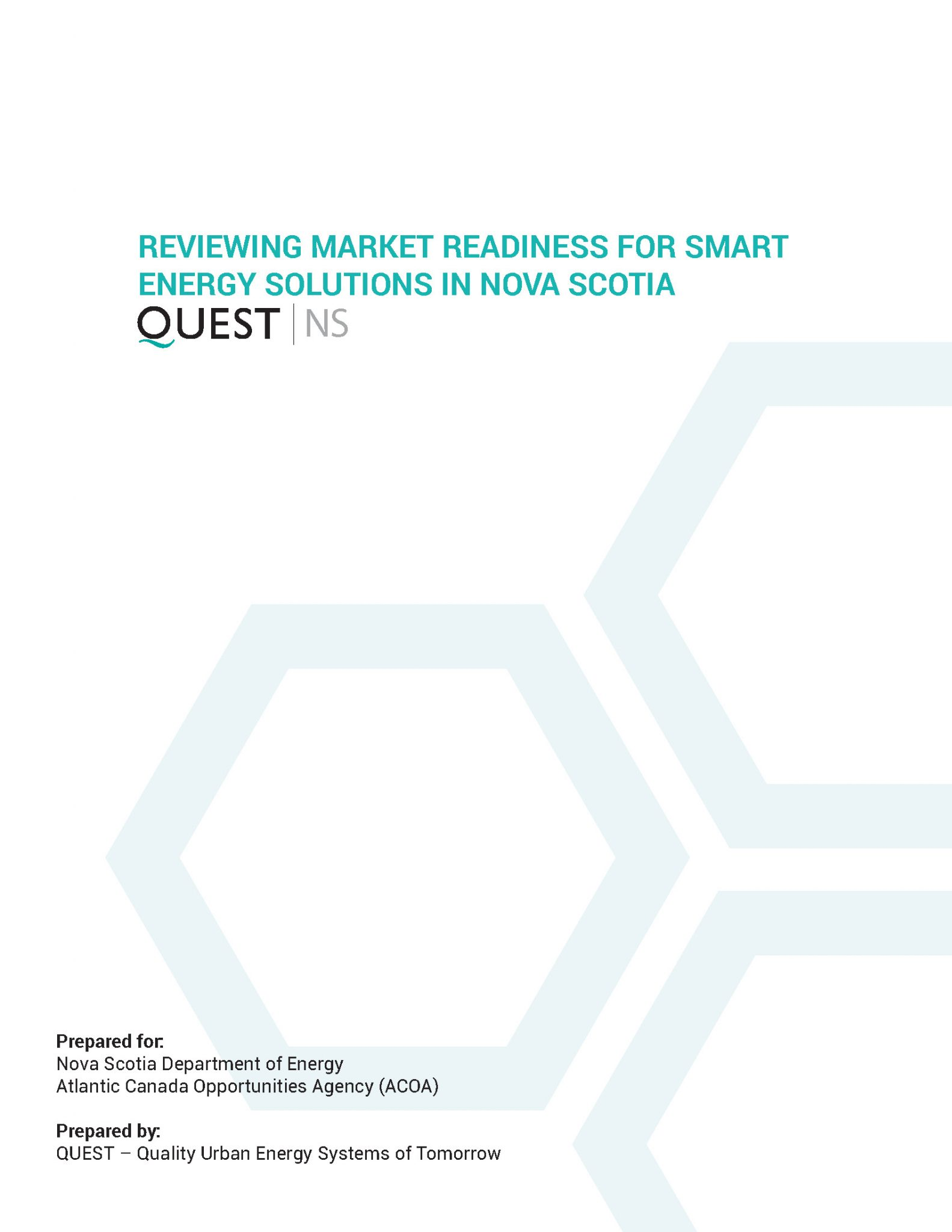 Reviewing Market Readiness For Smart Energy Solutions in Nova Scotia 2017