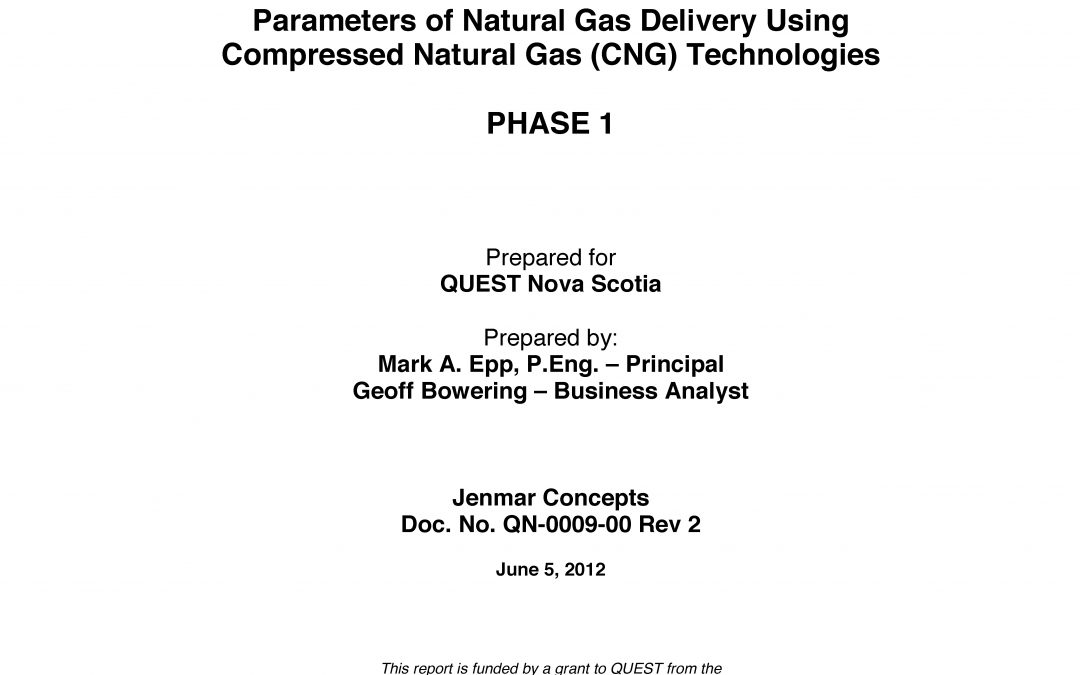 Feasibility Study: Compressed Natural Gas in NS (Phase 1)