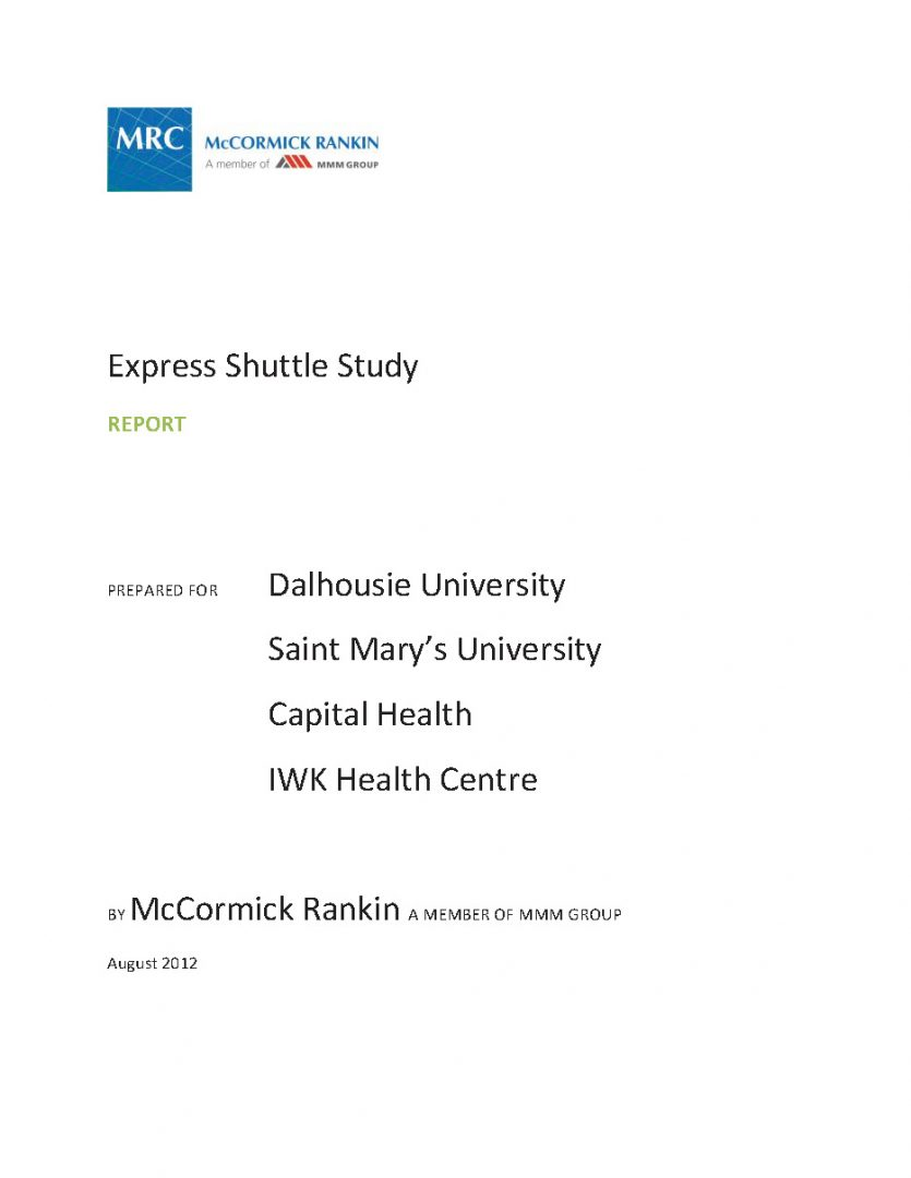 NS Sustainable Transportation Series: Express Shuttle Study