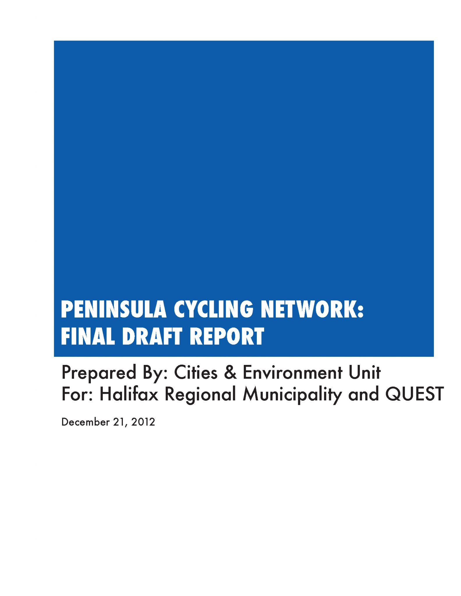 NS Sustainable Transportation Series: Peninsula Cycling Network