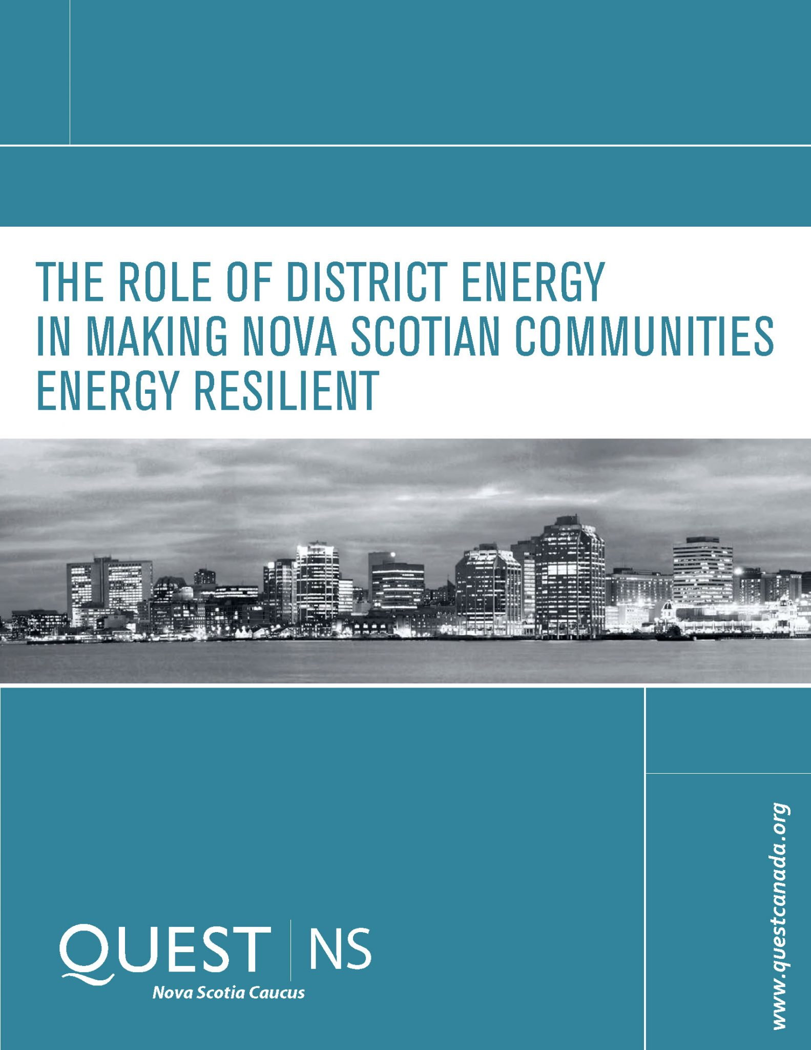 The Role of District Energy in Making Nova Scotian Communities Energy Resilient