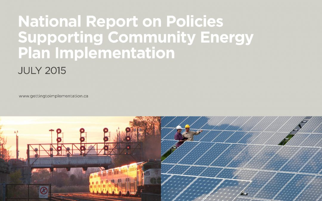 National Report on Policies Supporting Community Energy Plan Implementation