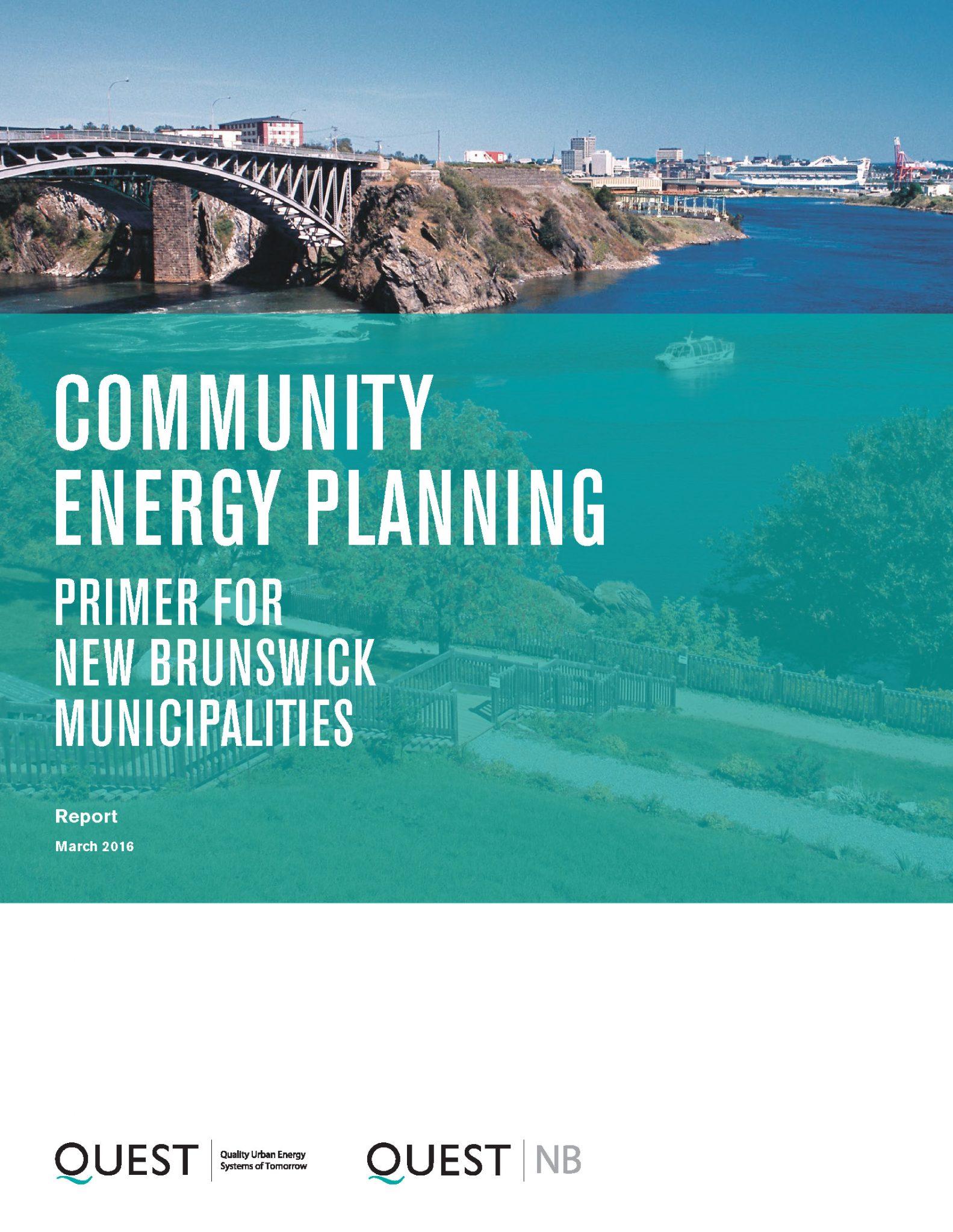 Community Energy Planning: Primer for New Brunswick Municipalities