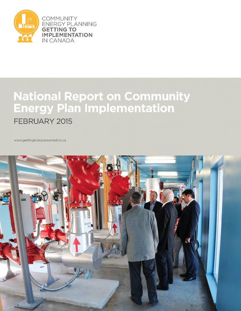 National Report on Community Energy Plan Implementation