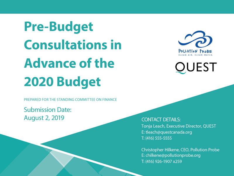 Federal Pre-Budget Submission in Advance of Budget 2020