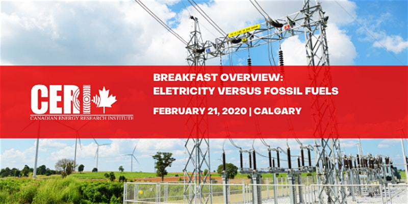 Calgary – Breakfast Overview: Electricity versus Fossil Fuels