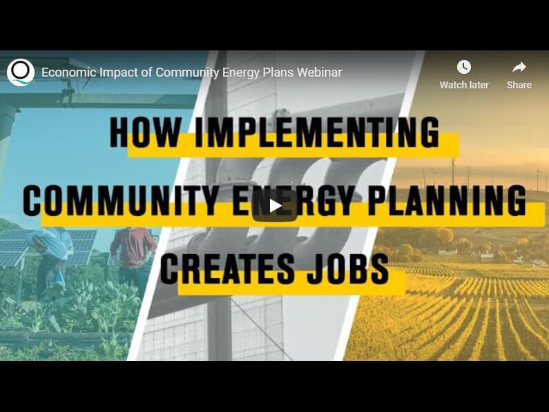 Economic Impact of Community Energy Plans