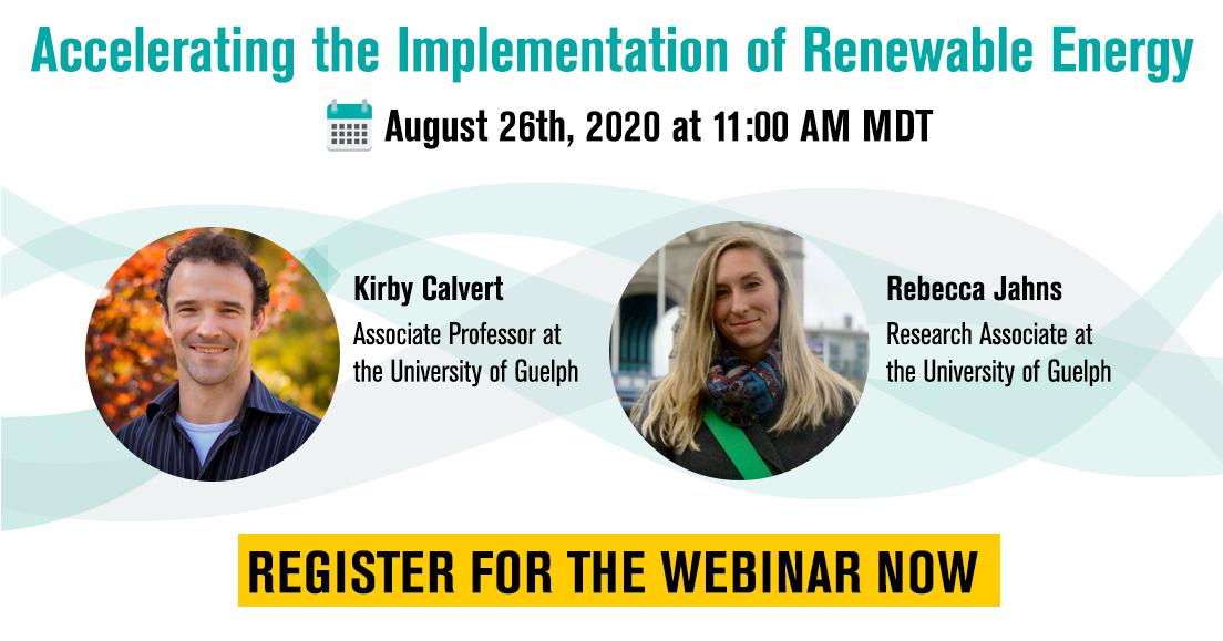 Accelerating the Implementation of Renewable Energy – Alberta Regional Webinar