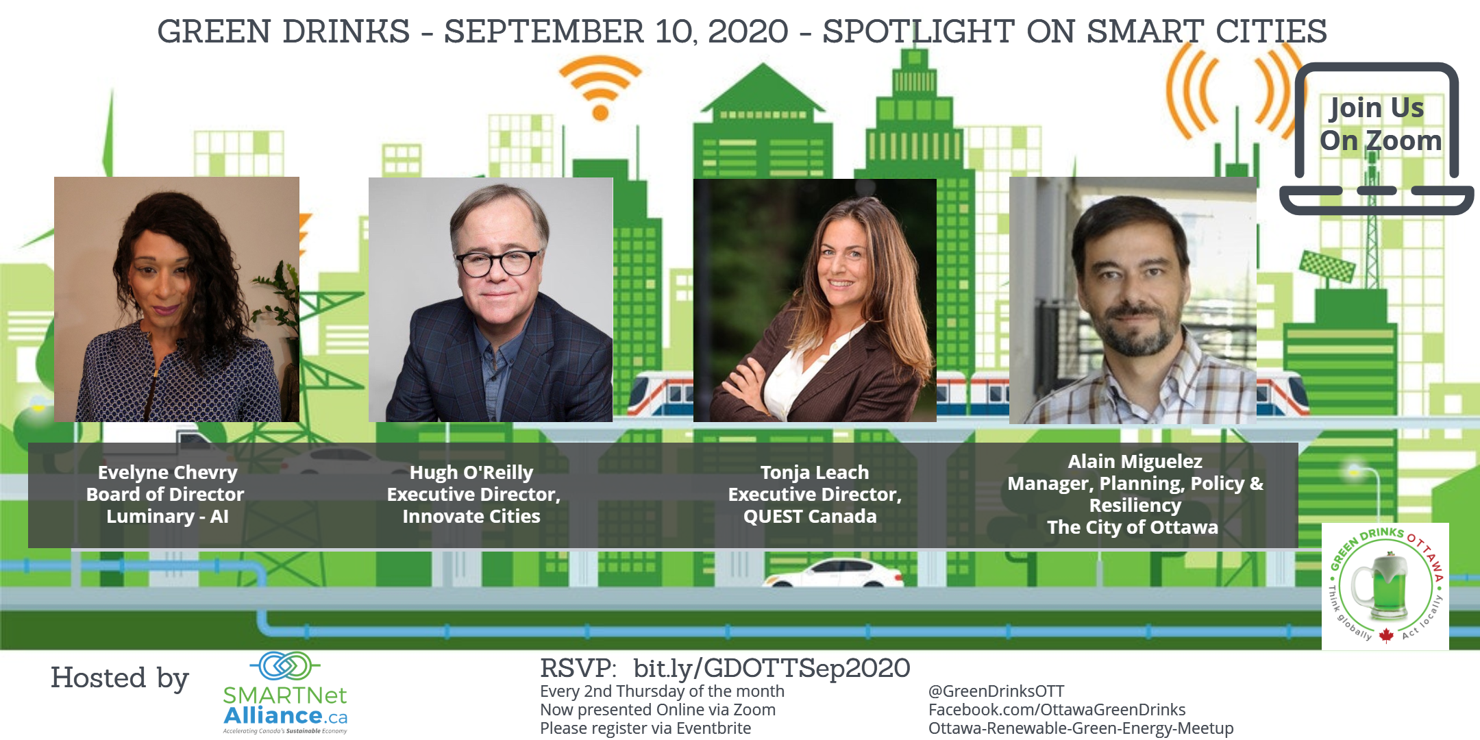 Green Drinks September On Zoom - Spotlight on Smart Cities