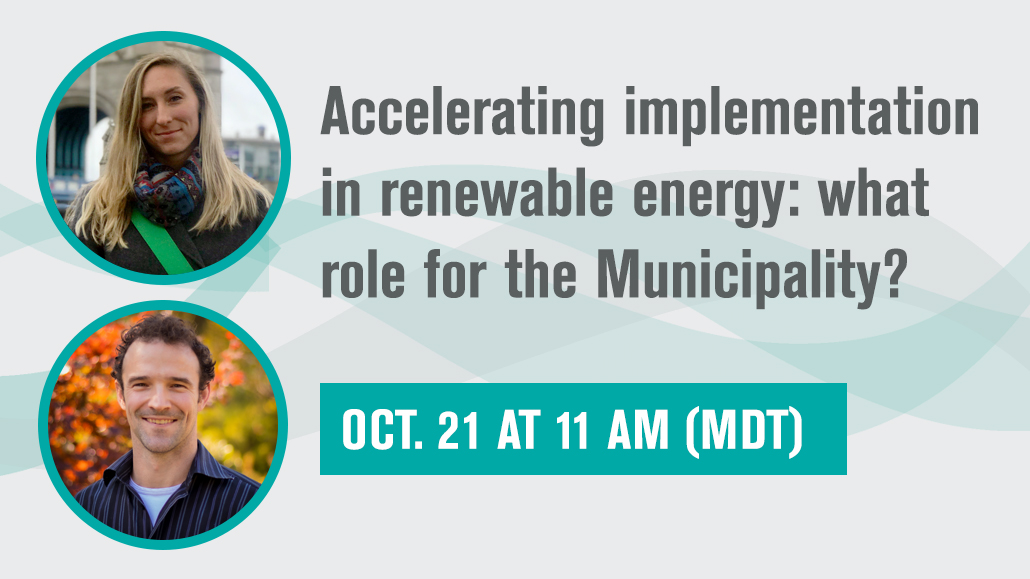 Part 2. Accelerating implementation in renewable energy: what role for the Municipality?