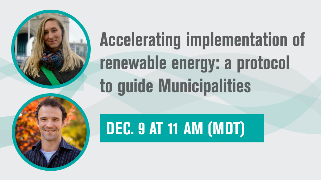 Part 4. Accelerating implementation of renewable energy: a protocol to guide Municipalities