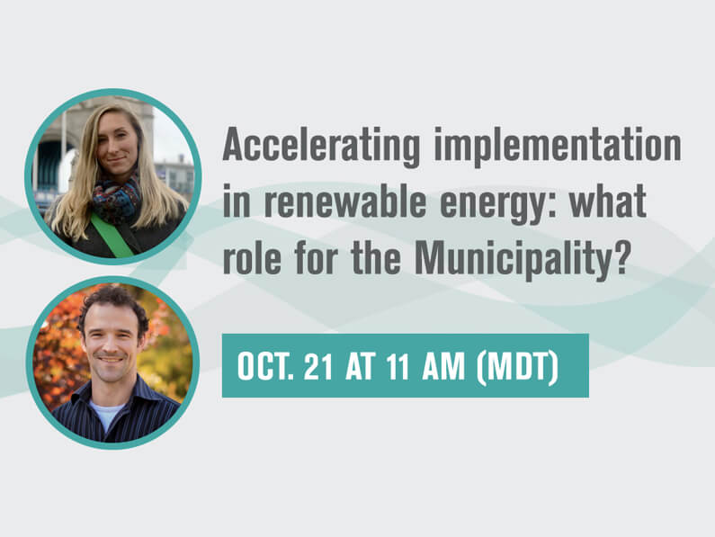 AIRE Webinar Part 2: Accelerating implementation in renewable energy: what role for the Municipality?