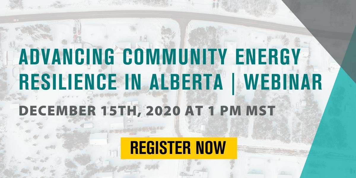 Advancing Community Energy Resilience in Alberta webinar
