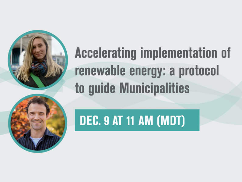 AIRE Webinar Part 4: Accelerating implementation of renewable energy: a protocol to guide Municipalities