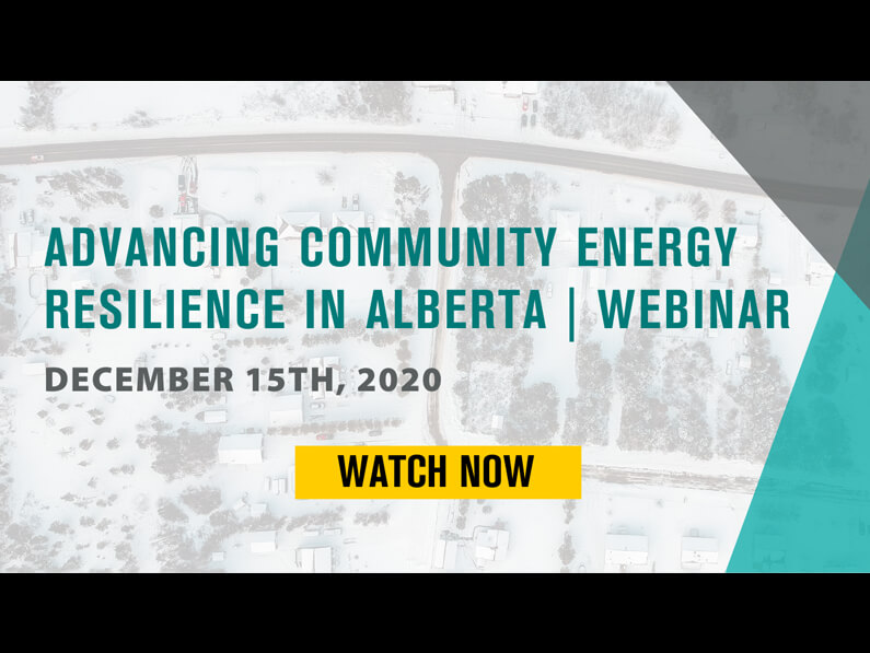 Advancing Community Energy Resilience in Alberta
