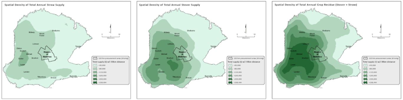 Figure 2: Example biomass density maps