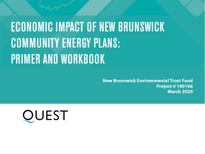 Economic Impact of New Brunswick Community Energy Plans: Primer and Workbook
