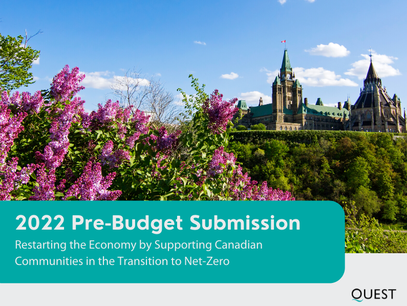 Pre-Budget Consultation in Advance of Federal Budget 2022